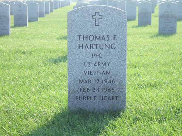 Thomas Hartung Headstone